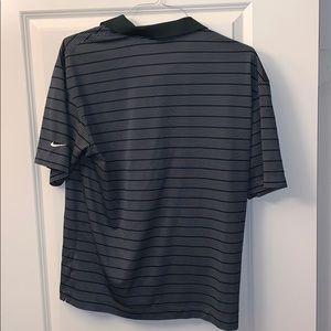 Large green stripe nike dry fit golf shirt